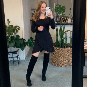 Lulu's Black Long Sleeve Mini Dress